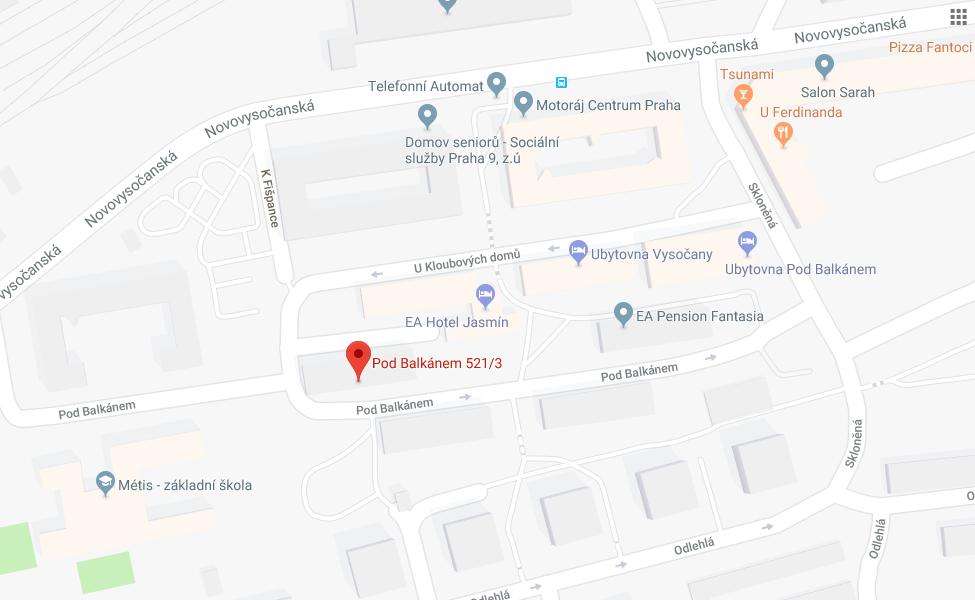 Umístění klubovny na mapě